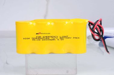 China Notbeleuchtungs-Batterie NiCad D4000mAh 4.8V 70 Grad CER distributeur
